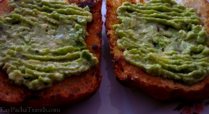 Ham n Cheese Ciabatta Sandwich with Avocado (palta) spread