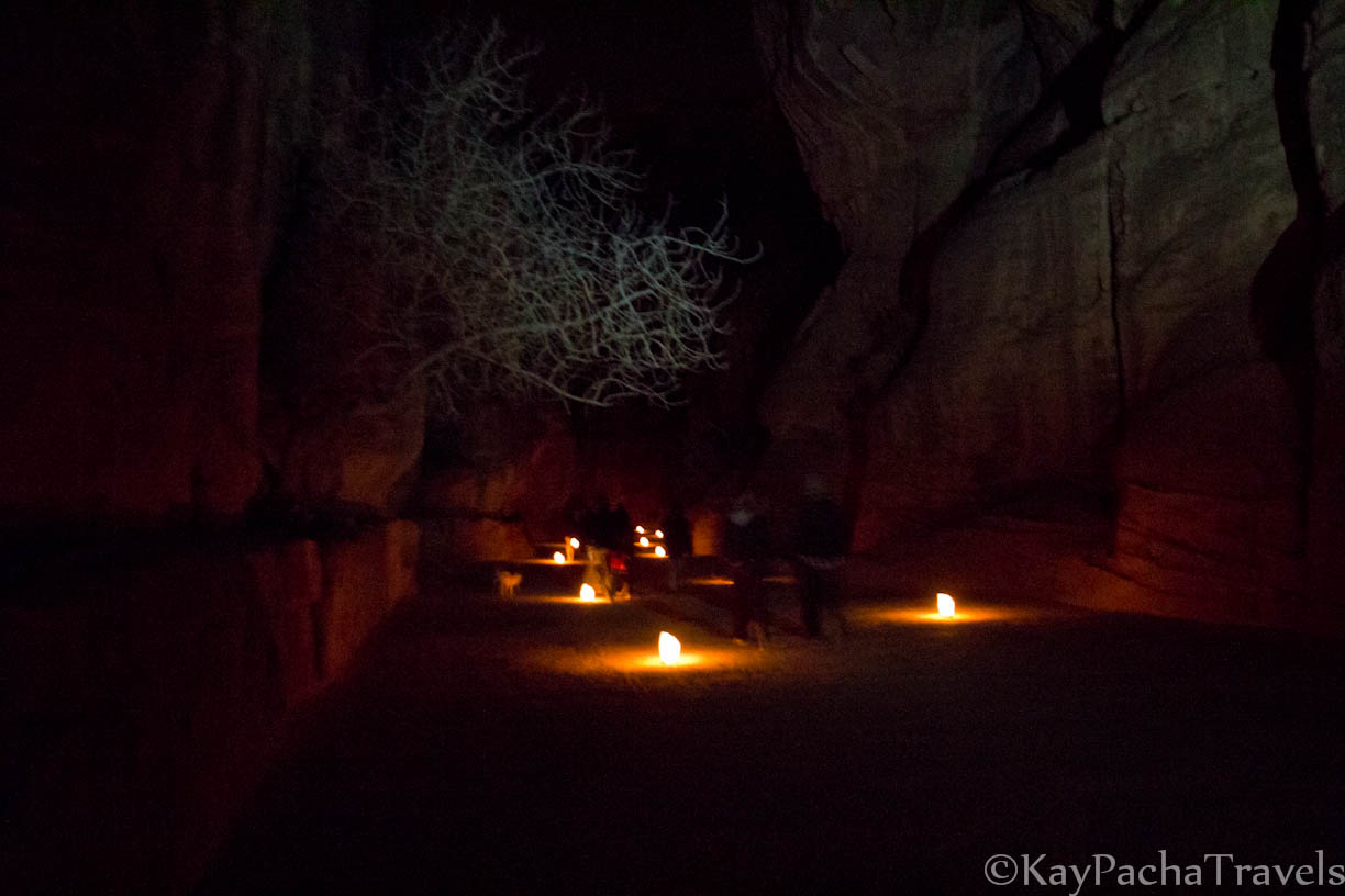 Bedouin melodies at Petra by night
