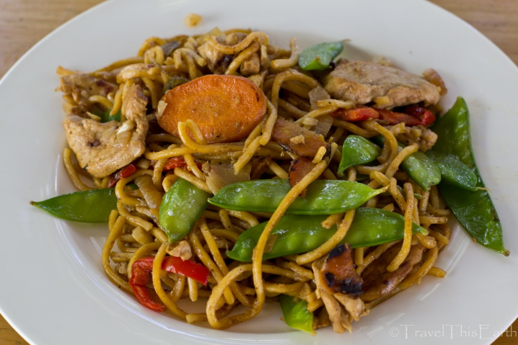 Australian rainforest inspired stir fry chicken with lemon myrtle